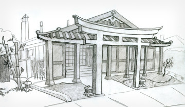2011 Sketch Asian Fortress