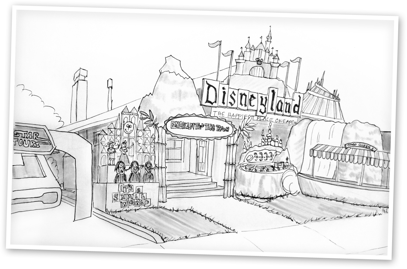057 2013 Disneyland Sketch Best Haunted Places In The South Bay