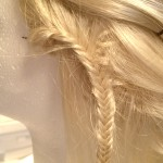 Close Up of Lace Fishtail Braid