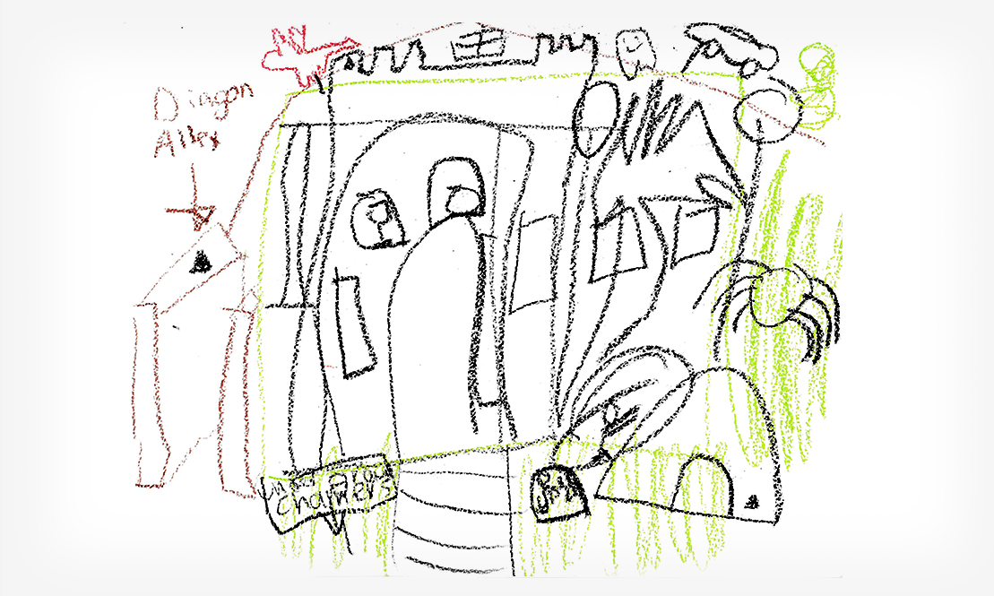 Grace's Sketch for the 2016 Halloween House